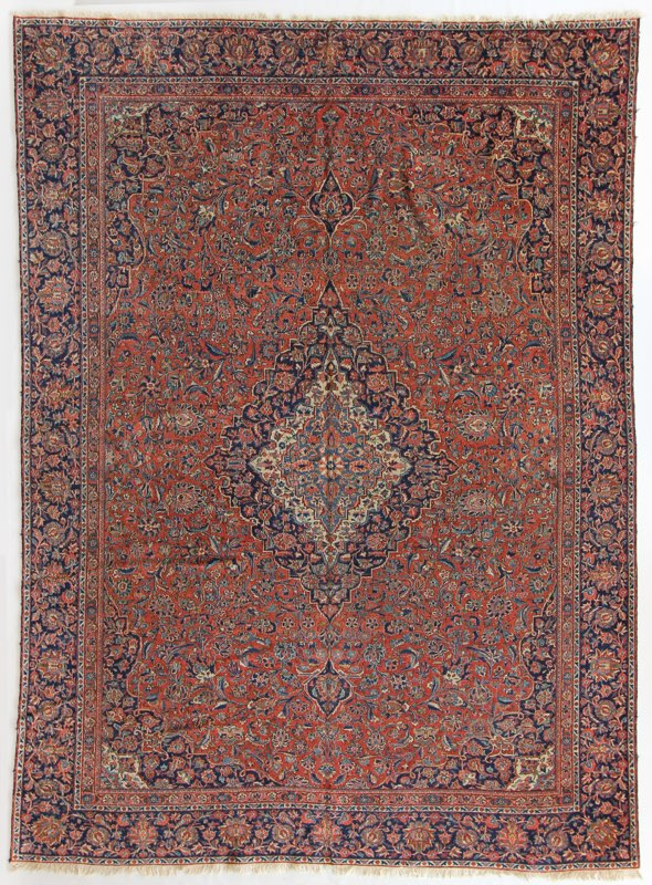 58 Antique Kashan, Persia, 8'4''x11'1''