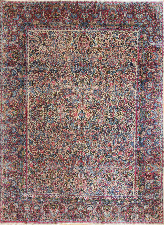 "CC19 Lavar Kerman, Persia, circa 1910, 8'9""x11'11"""