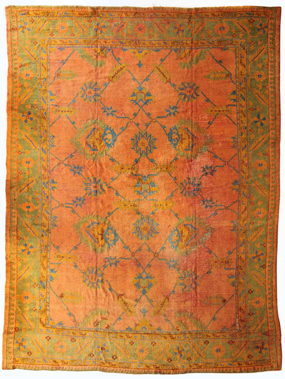 54 Oushak, Wool on Wool, Turkey, circa 1880, 11'6''x14'