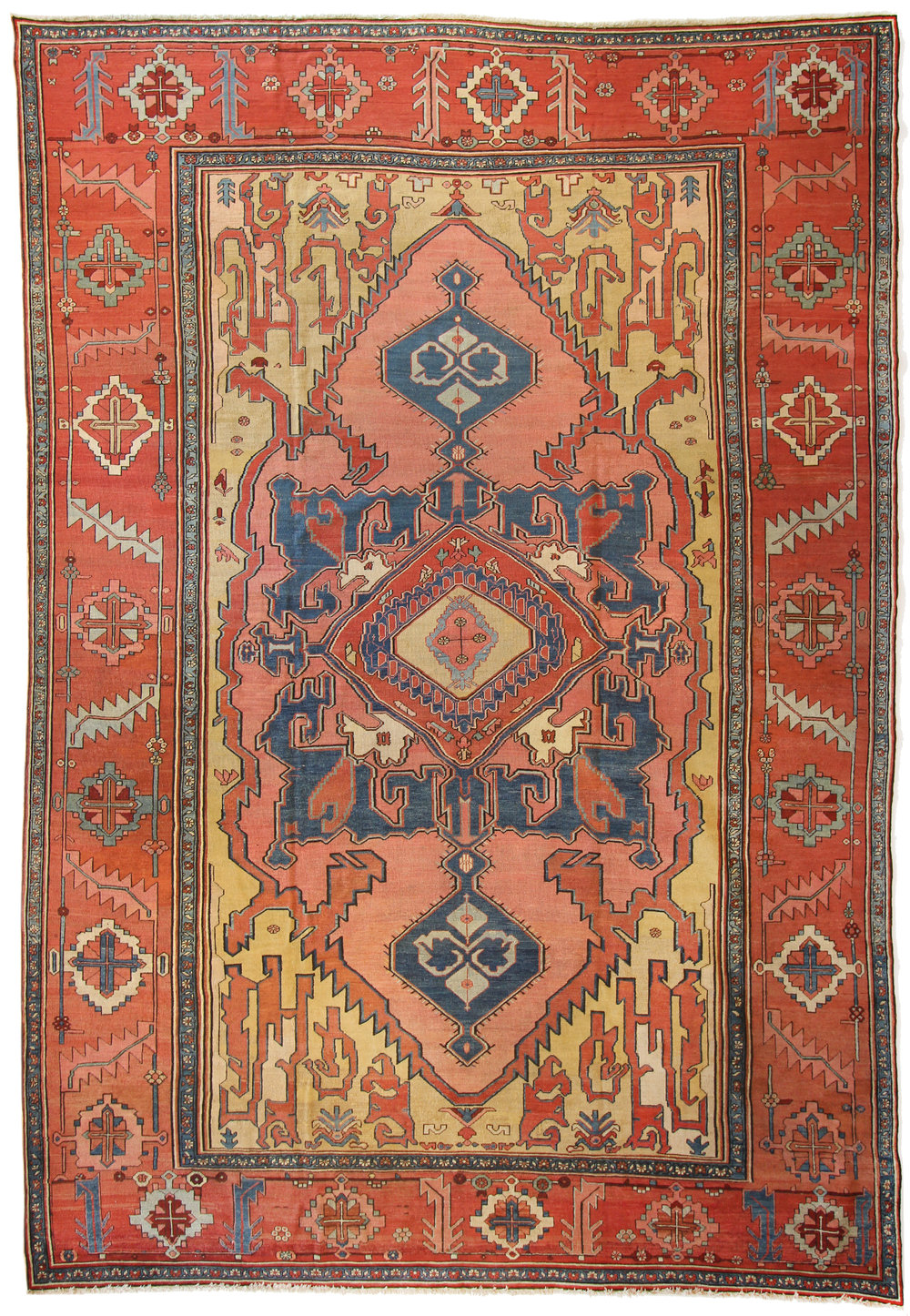 503 Antique Serapi, Heriz Area 9'8''x14', 1800-1830, 9'8''x14'
