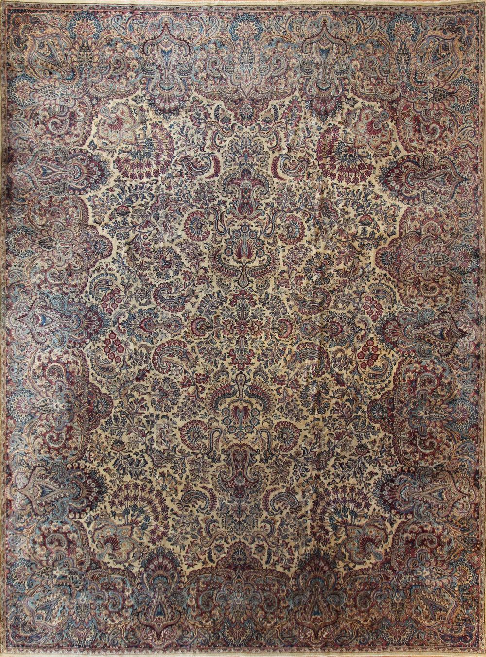 "CC18 Lavar Kerman, Persia, circa 1910, 11'8""x15'11"""