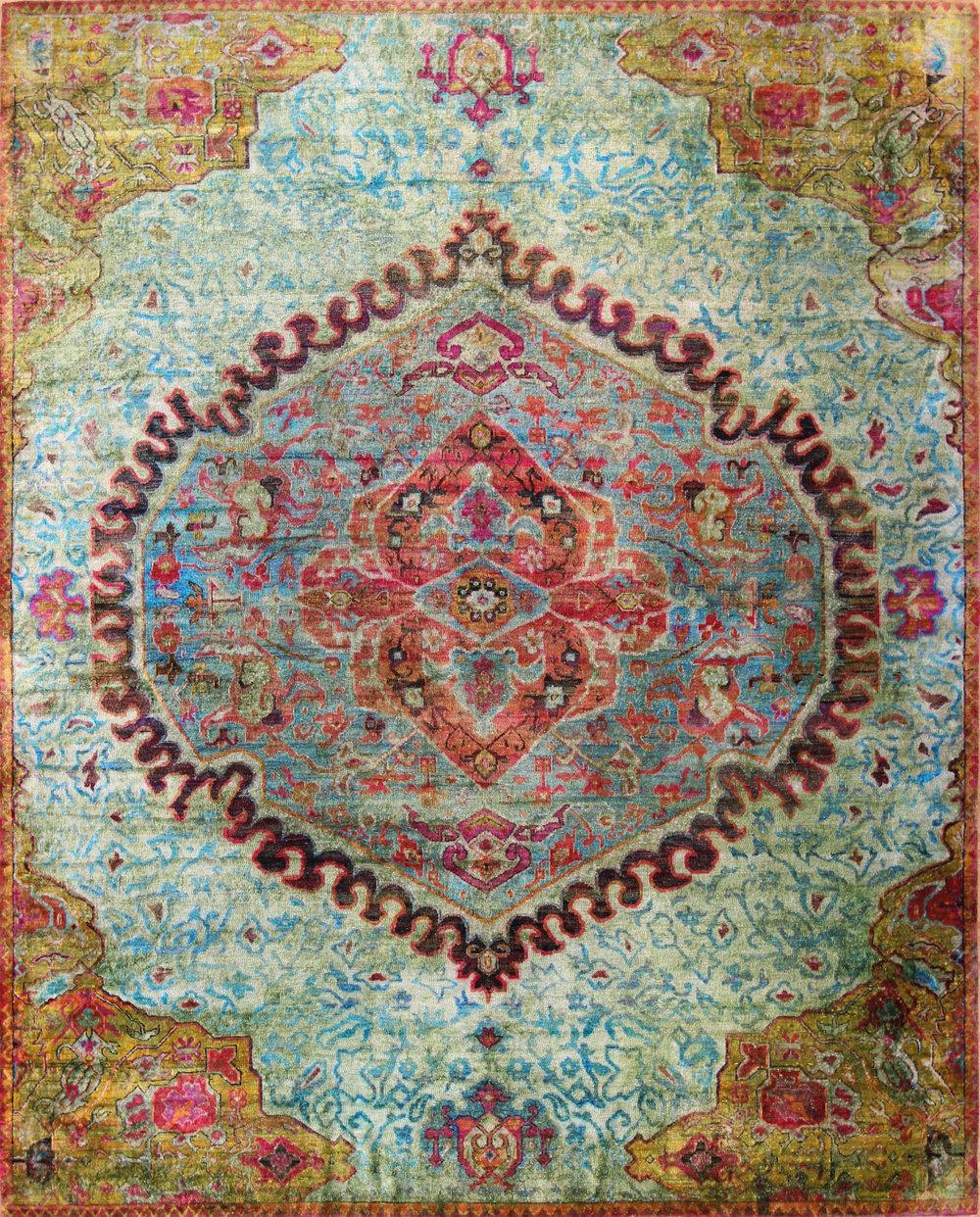 """882 Kundan Silk 8'9""""x10'11"""""""