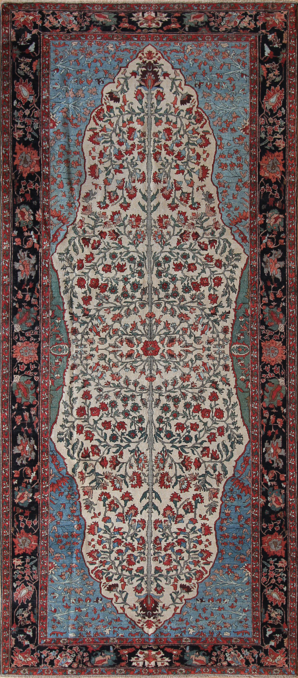 755 Ferrahan Sarouk, woven in India with Turkish Wool, 4'11''x11'2''