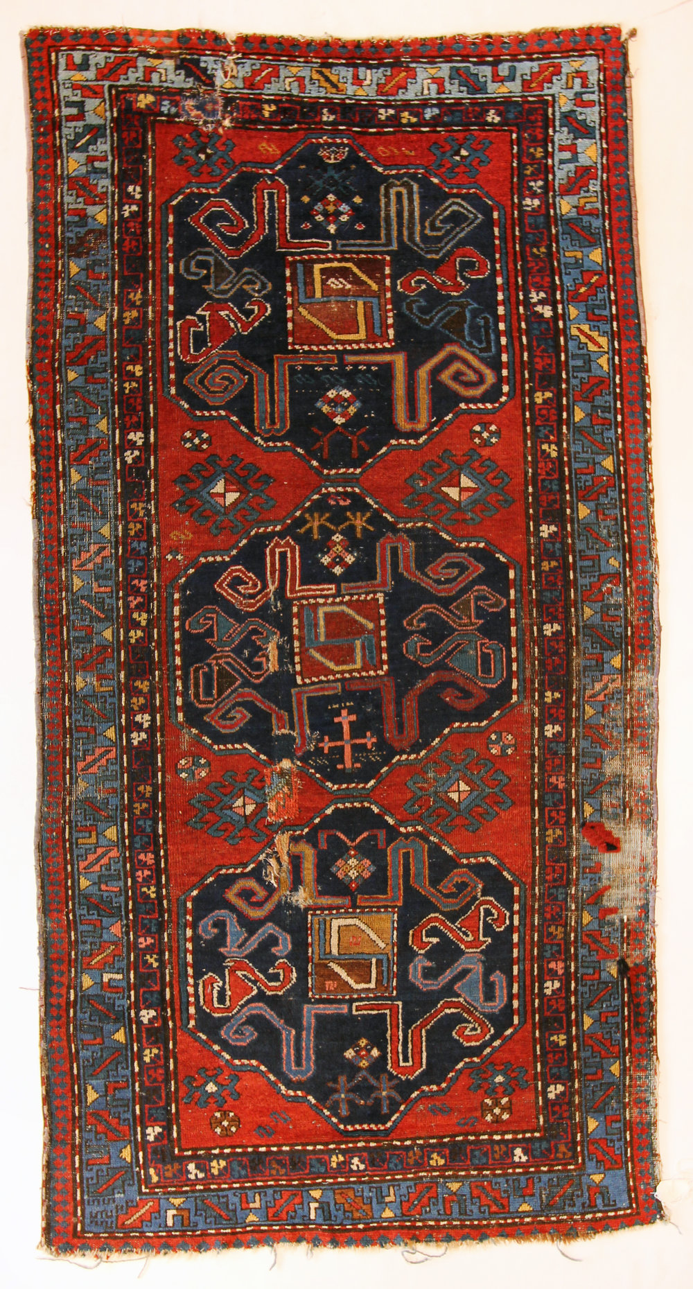 82 Armenian Cloudband Kazak, circa 1880, 4'2''x8'2''