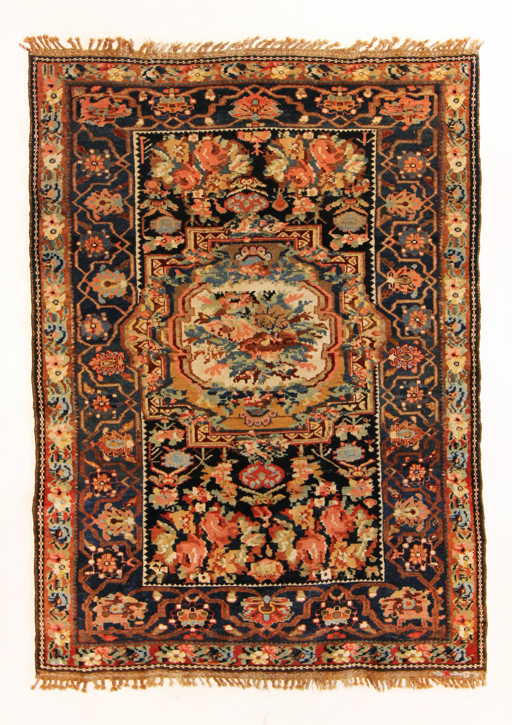 67 Armenian Village Carpet, Chahar Mahal, Iran, circa 1895, french influence, 4'8''x6'8''