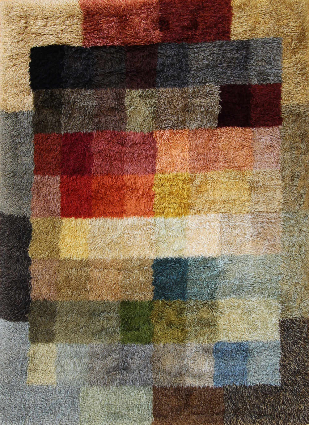 268 Mohair Shag Color Sampler 6'x9'