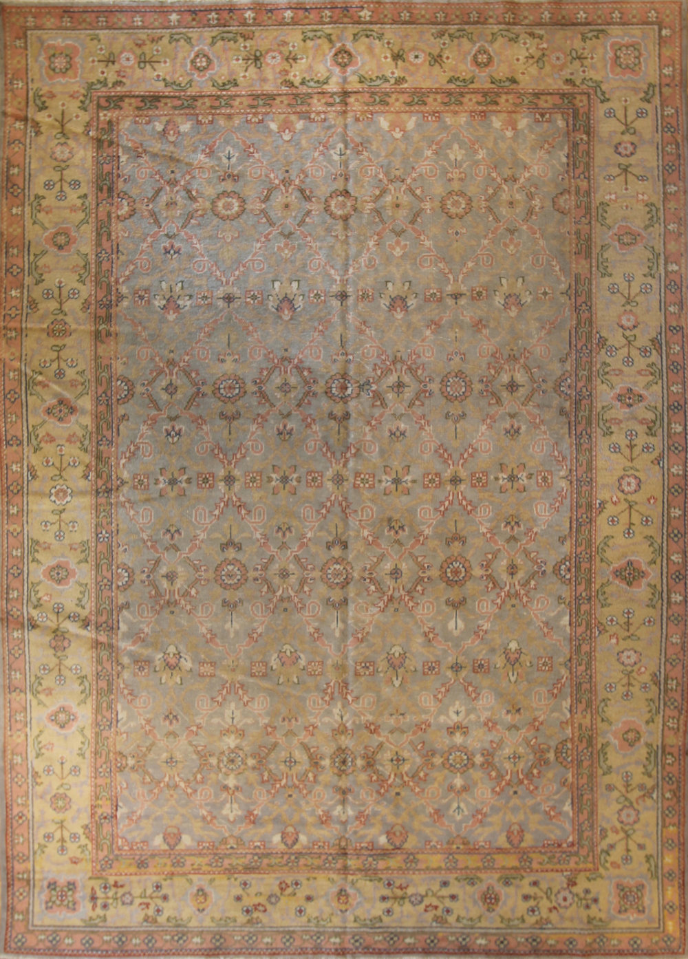 "544 Turkish Oushak circa 1900 8'2""x11'6"""