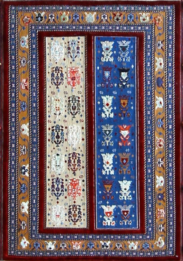 "717 Balouch, Persia,  wool & silk 2'9"" X 4'"