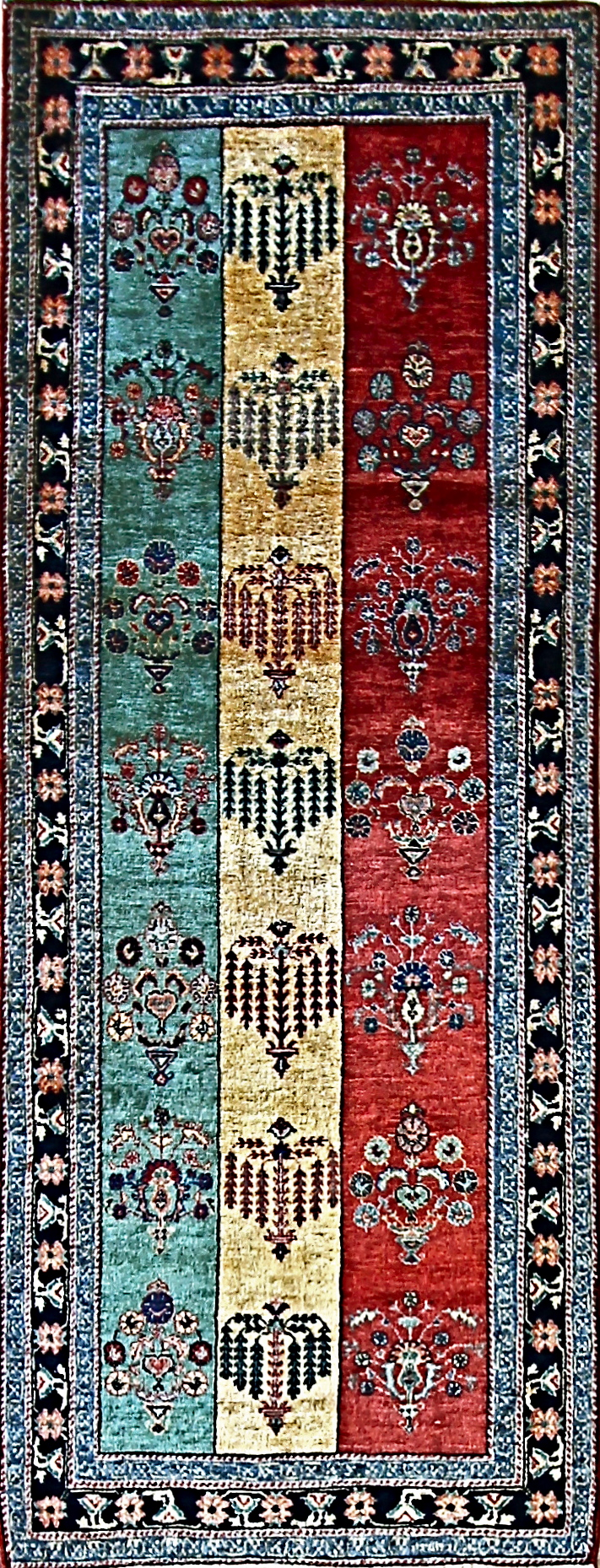 609 Luri Bakhtiari, woven by Nomads in S.W. Persia, 2'9'' x 7'2''