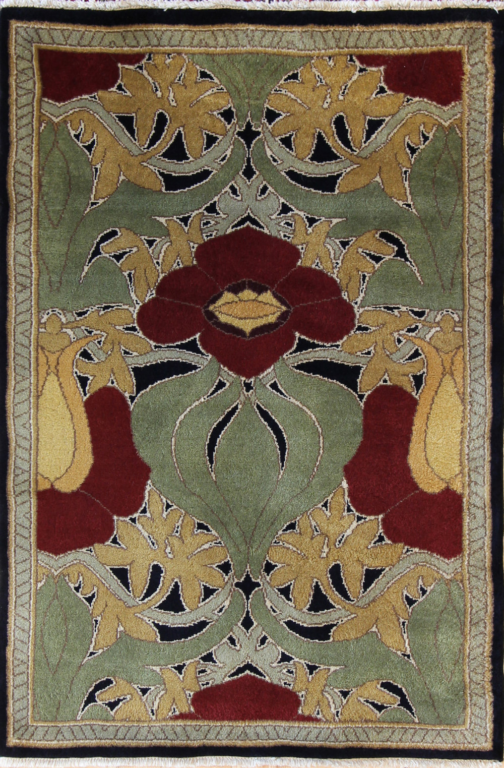 335 Donnemara, Voysey Design, India, New Zealand Wool, 4'x6'