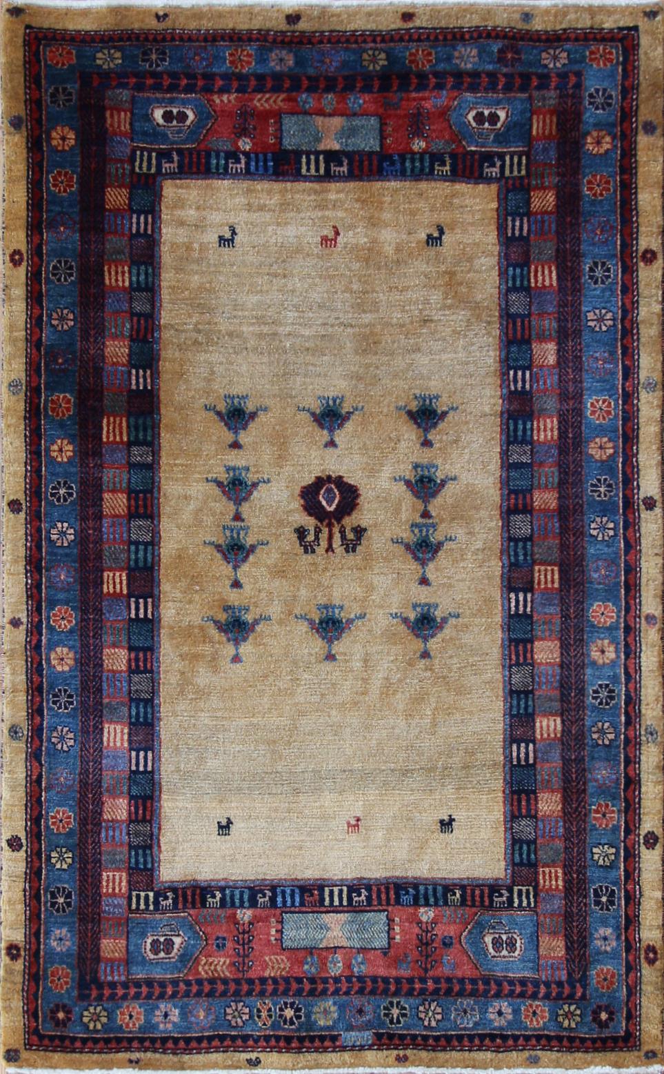 """206 Gashgai Landscape, Persia, 3'x5'8"""""""