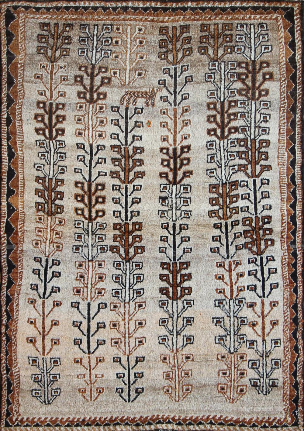 """786 Antique Gabbeh, Persia, 4'3""""x6'1"""""""