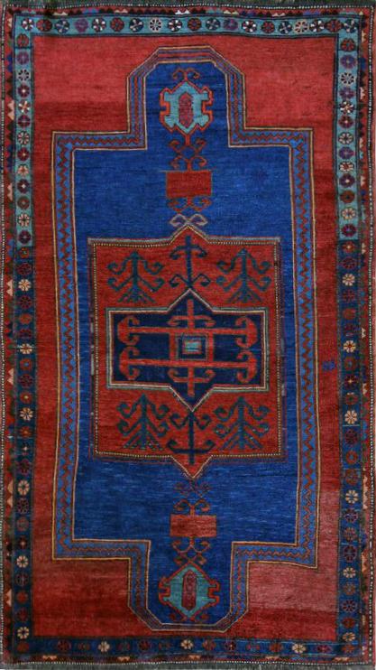 68 Armenian Kazak, Church Floor Plan, 3'11''x7'
