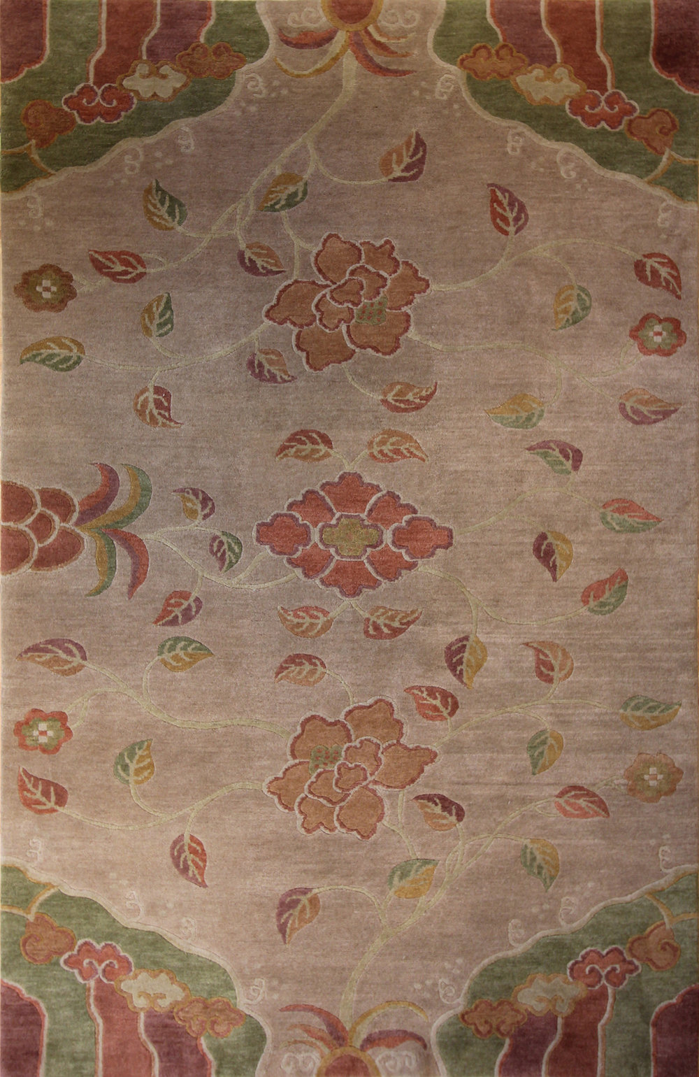 17 Three Lotus, Tibet, 6'x9'3''