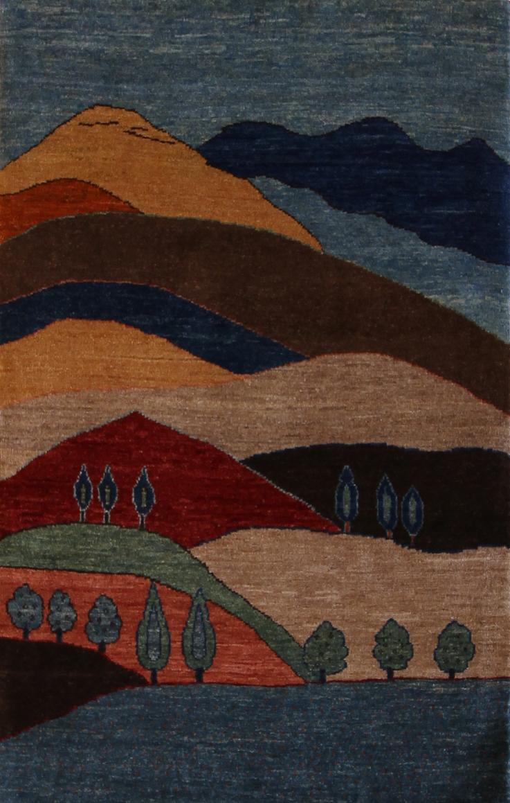 "897 Kashkuli Landscape 2'6""x4'"