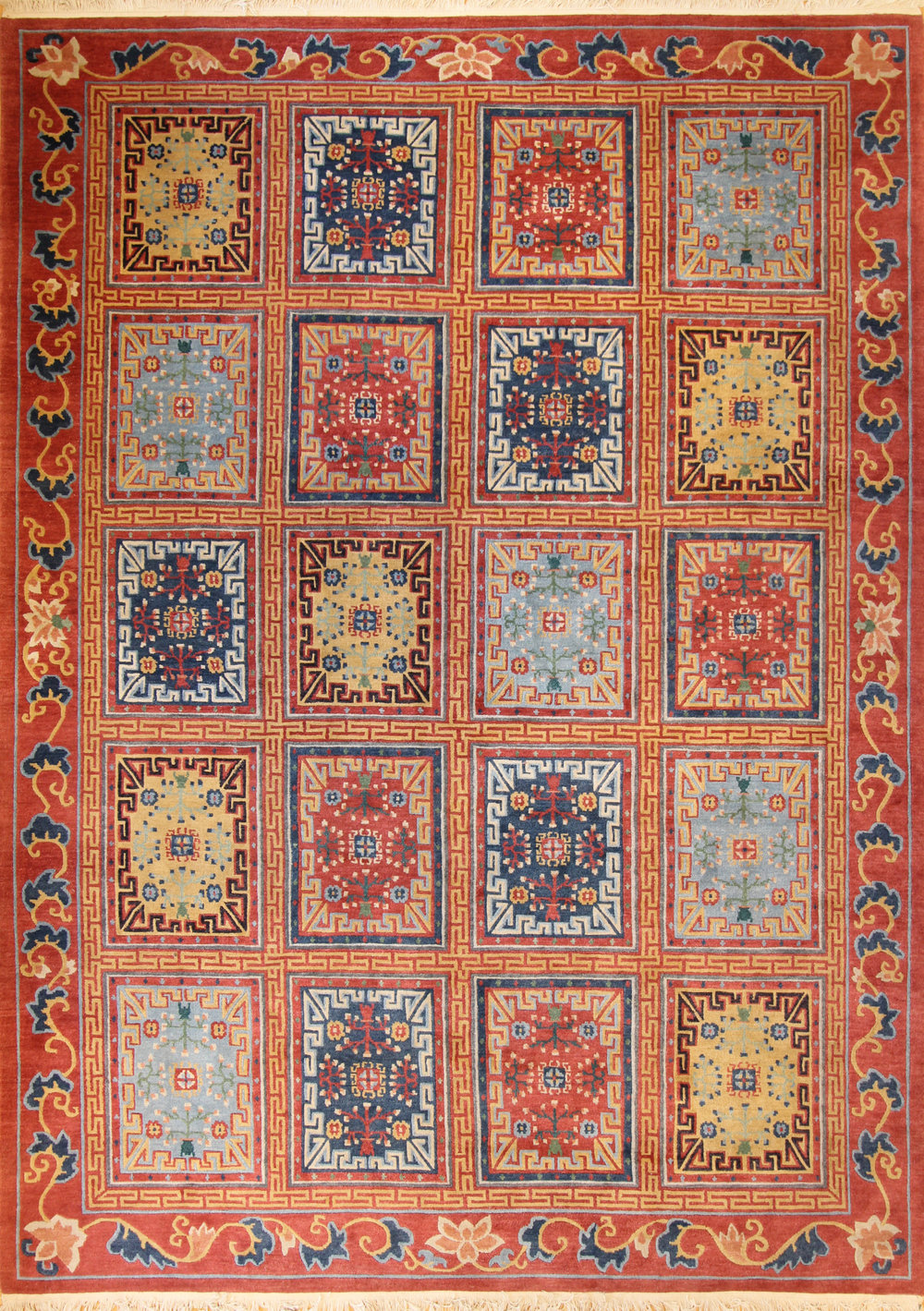 "913 Khotanese Tibetan 9'x12'9"""