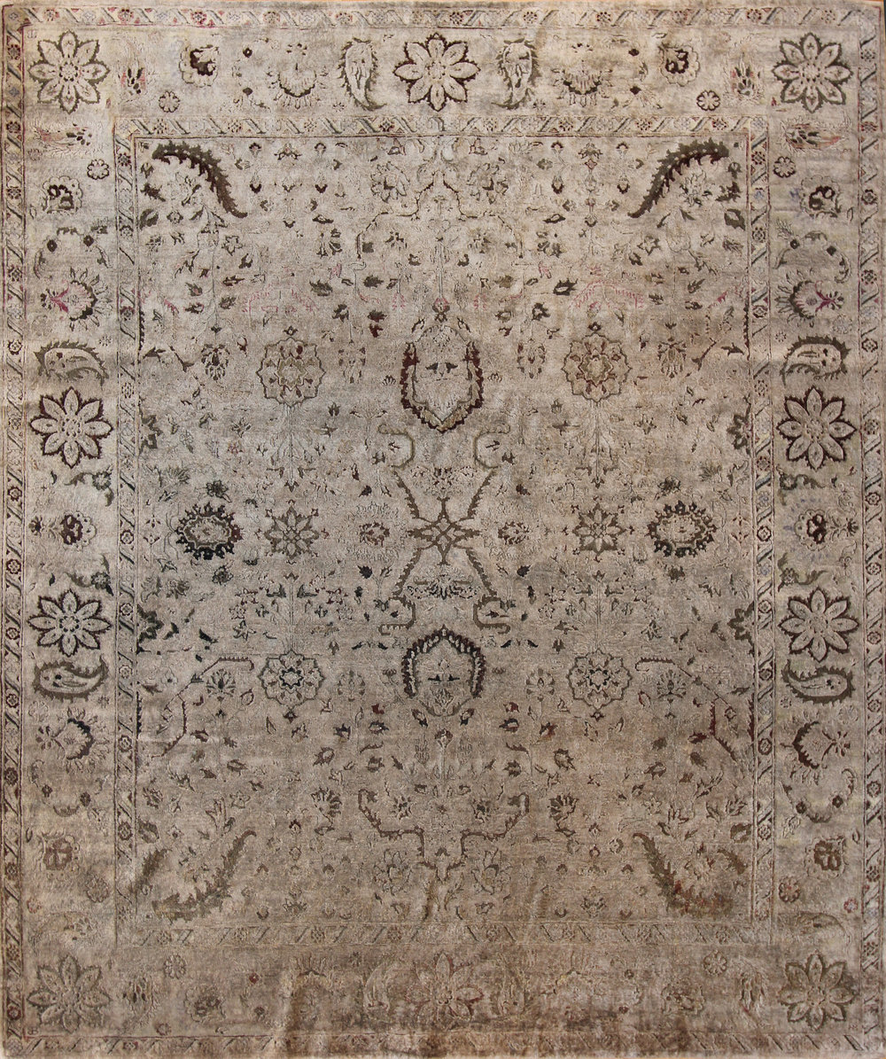"914 Silk oxidized wool, Jaipur 7'11""x9'4"""