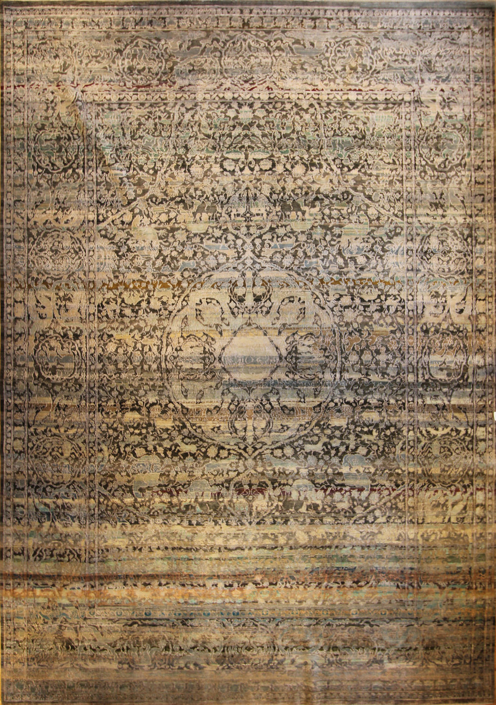"944 Silk and Wool Jaipur 9'10""x13'11"""