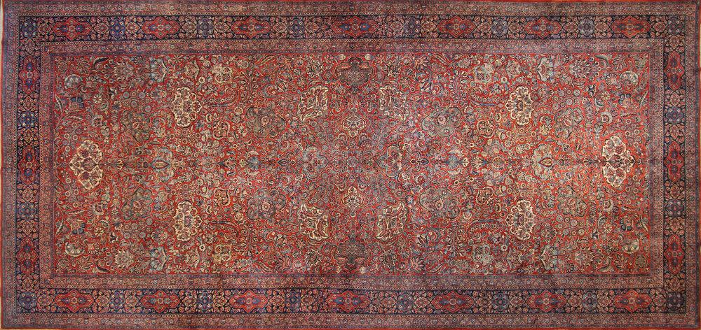 227 Persian Kashan, 10'3''x22'
