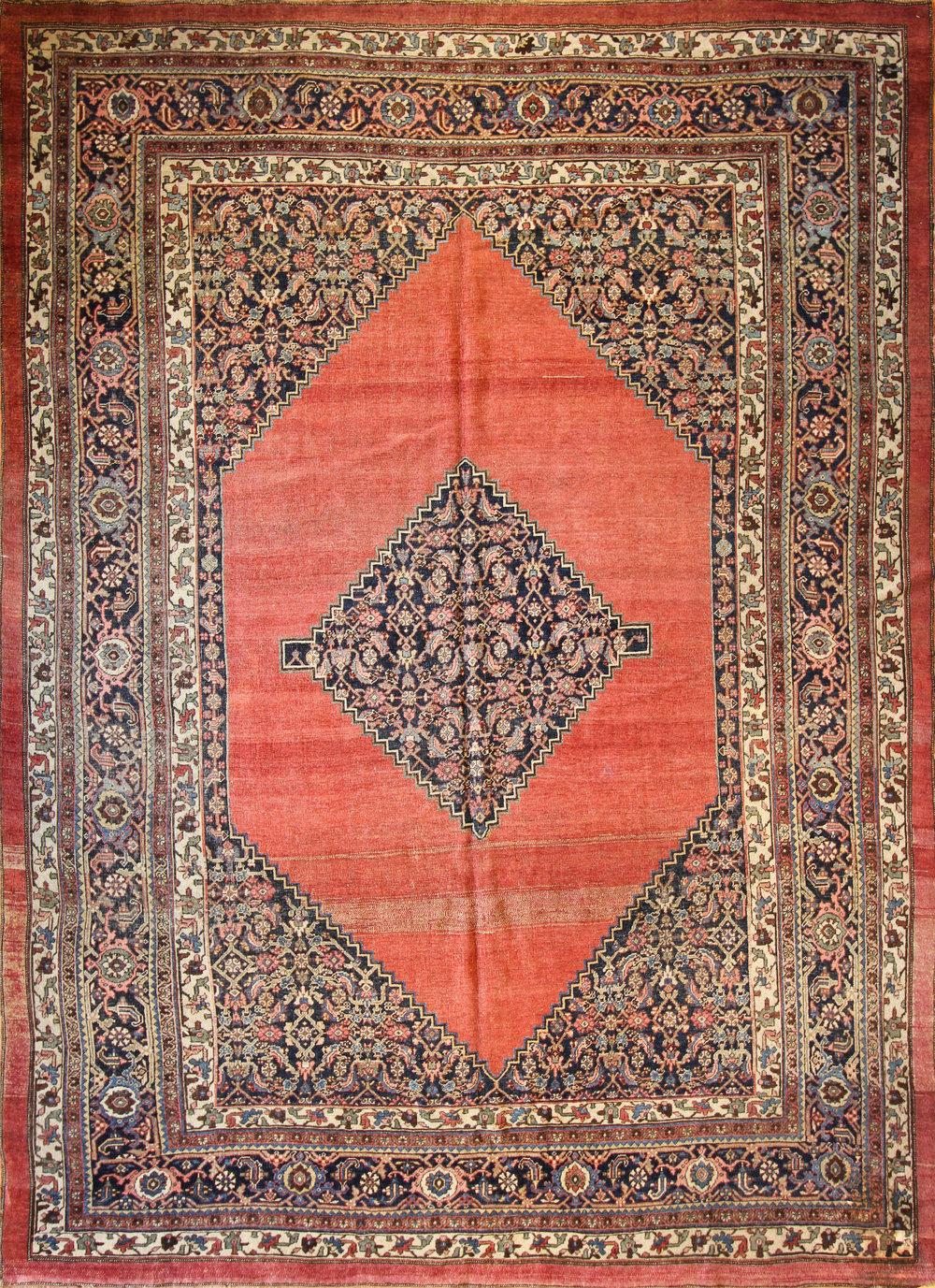 """960 Antique Bidjar Persia 9'2""""x12'9"""""""