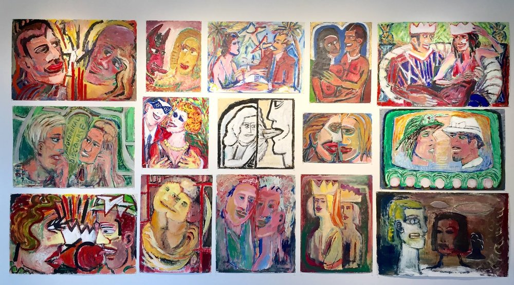 Love/Lust: a wall of Yadviga Dowmont Halsey's Lovers