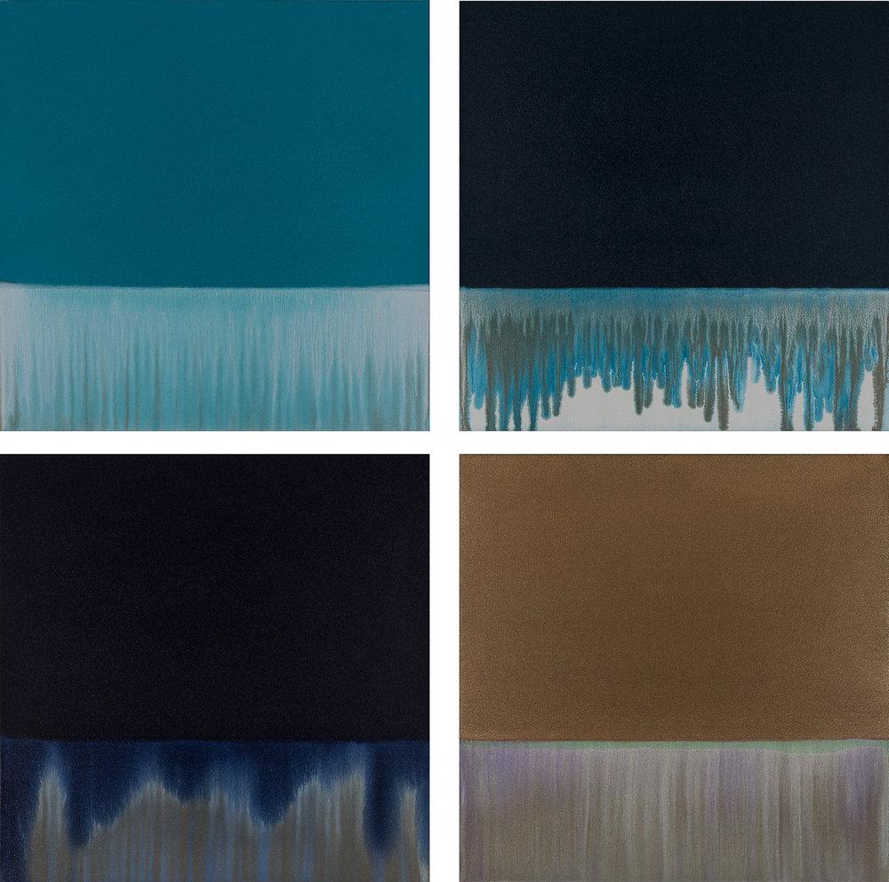Gradient Flow - Teal, Pthalo, Indigo & Bronze
