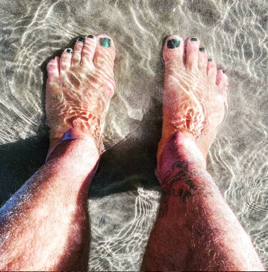 I have a tradition of getting my feet wet as soon as possible when I reach a new body of water, a baptism of sorts...