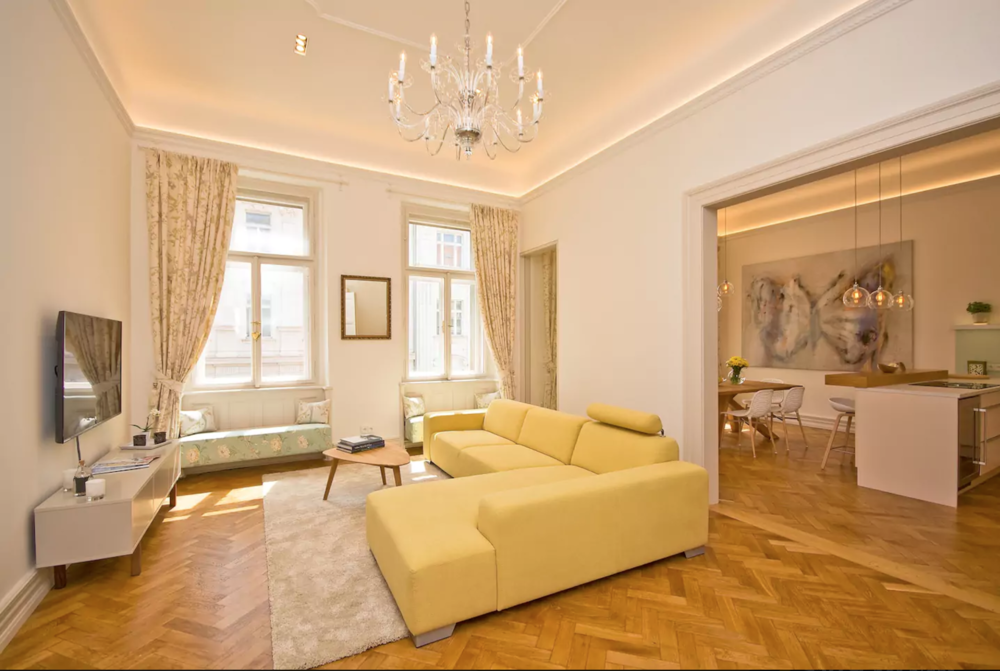 Michal and Dária's place is just as they describe. The apartment is beautiful and, while it is on the third story of a walk-up building, it is most definitely worth a stay. The freshly remodeled apartment is well done in every way and exemplifies the old beauty of Prague