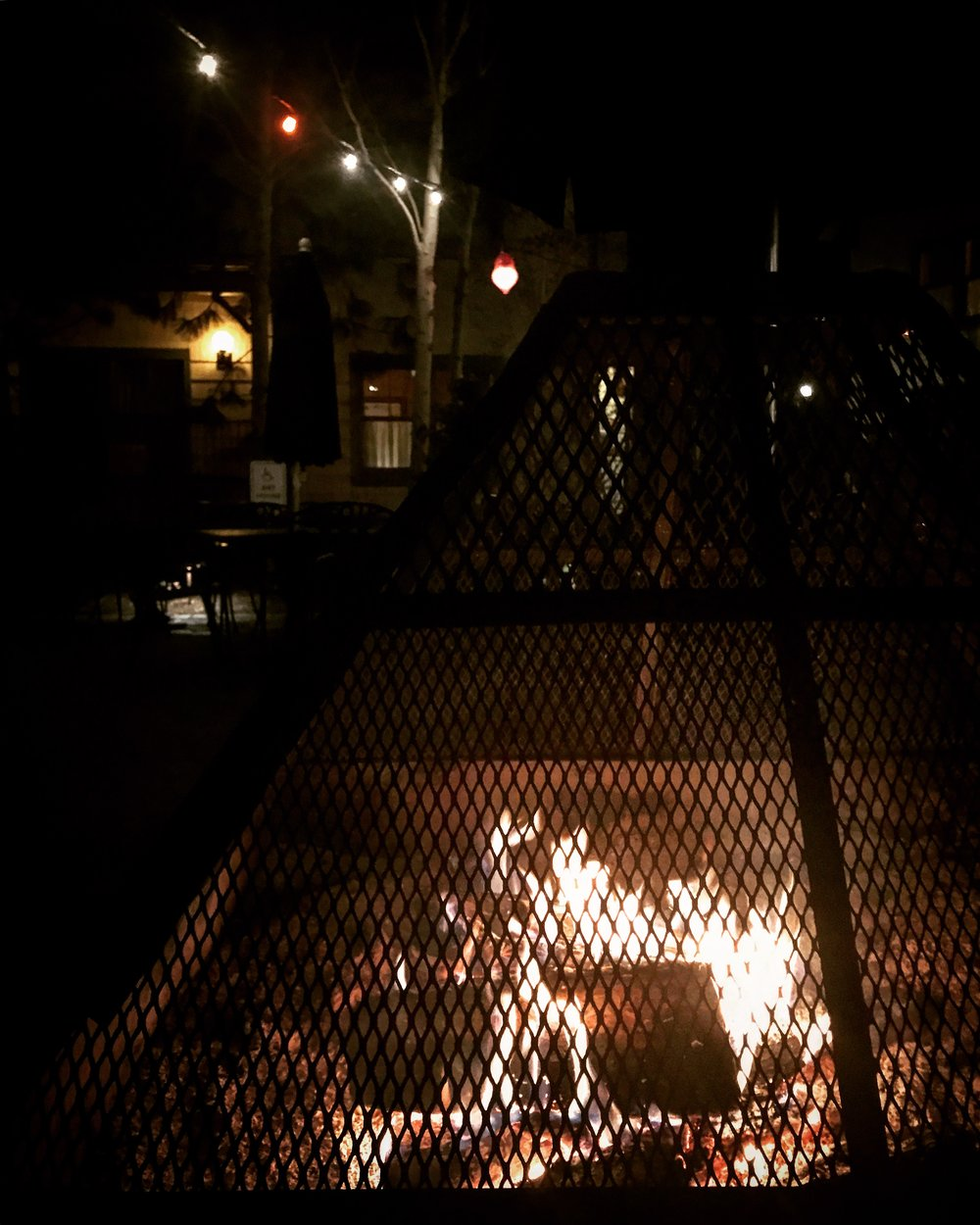 The firepits at Hugh O'Kanes always beckon me with their ambiance, even in the coldest weather...