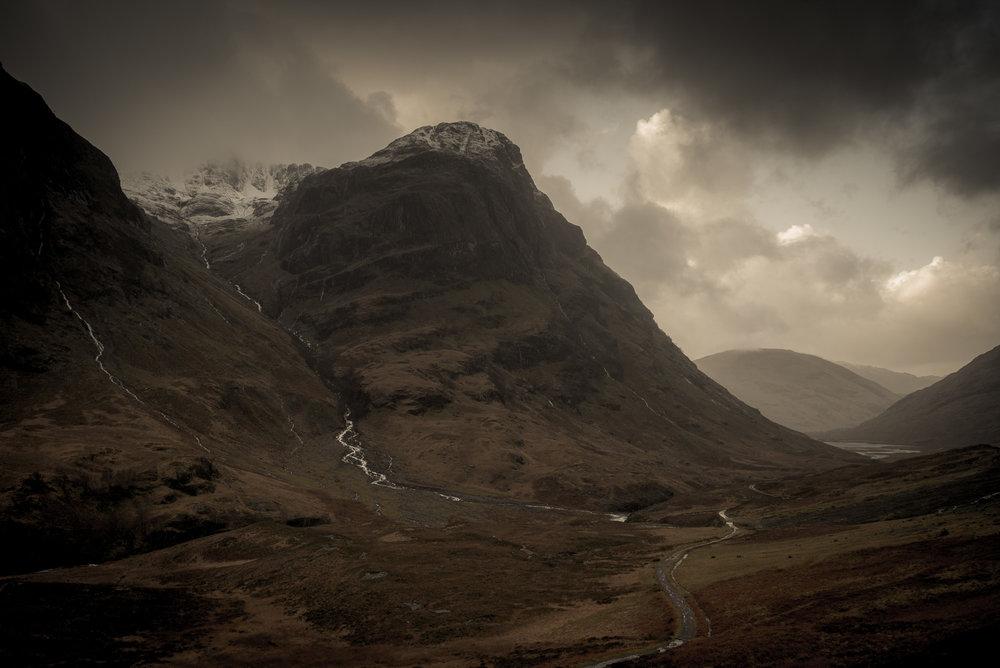 Mountain drama at Glencoe