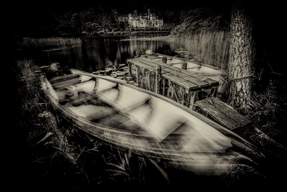 Kylemore Abbey with Boats
