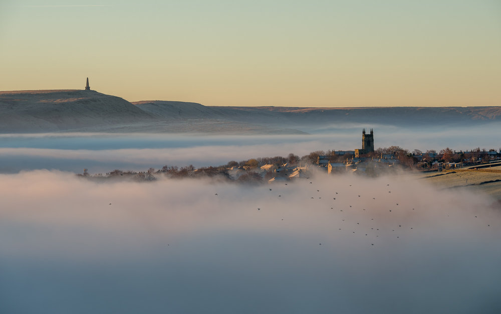 Calder dawn mist inversion with Heptonstall church.jpg