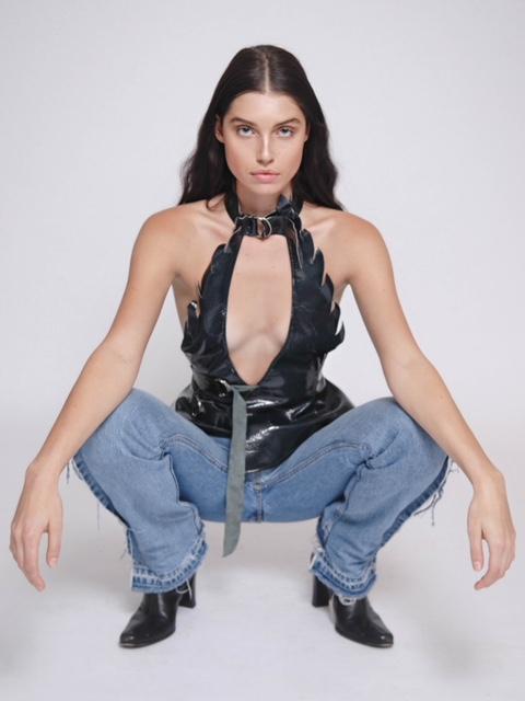 Top by Keiko Koakutsu  Jeans by Olivia O'blanc  Coach shoes
