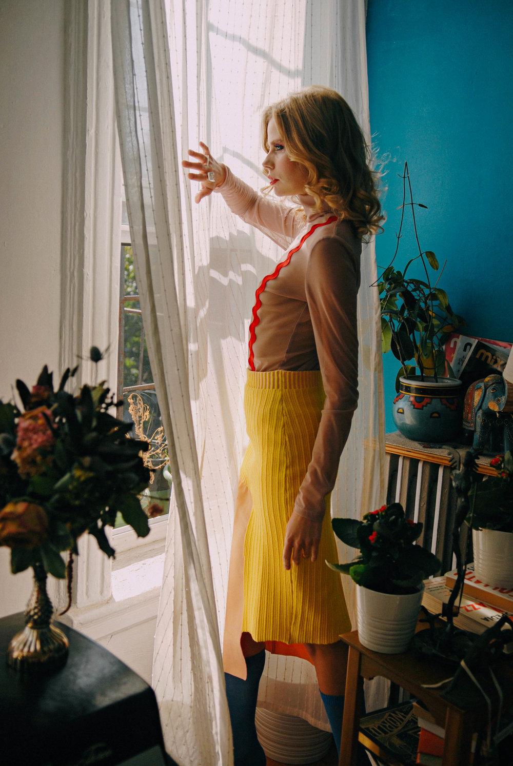 Top by Elena Rudenko  Skirt & booties by Zoe Champion knitwear