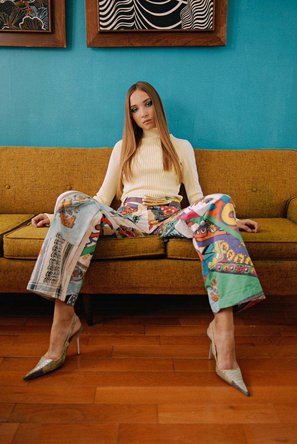 Top by Zoe Champion Knitwear  Pants by Keiko Koakutsu  shoes (stylist own vintage)