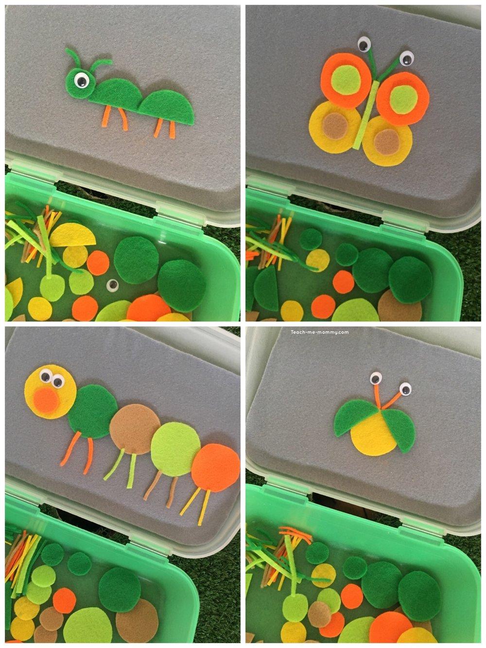 toddler busy box build a bug