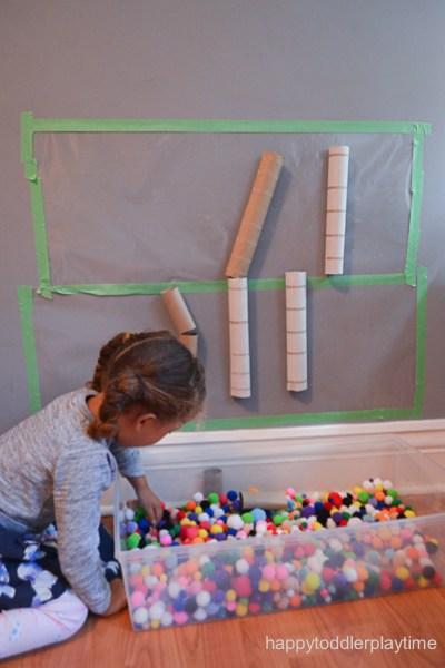 pom pom toddler play center busy box