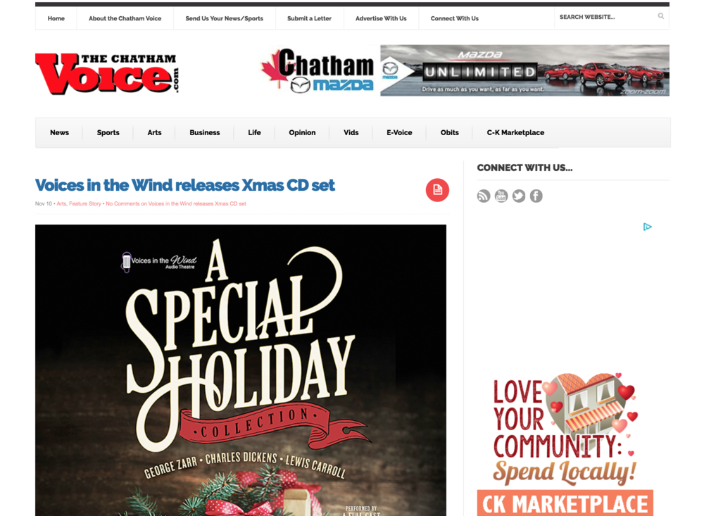 The Chatham Voice - A Special Holiday Collection - The First Noelle Productions