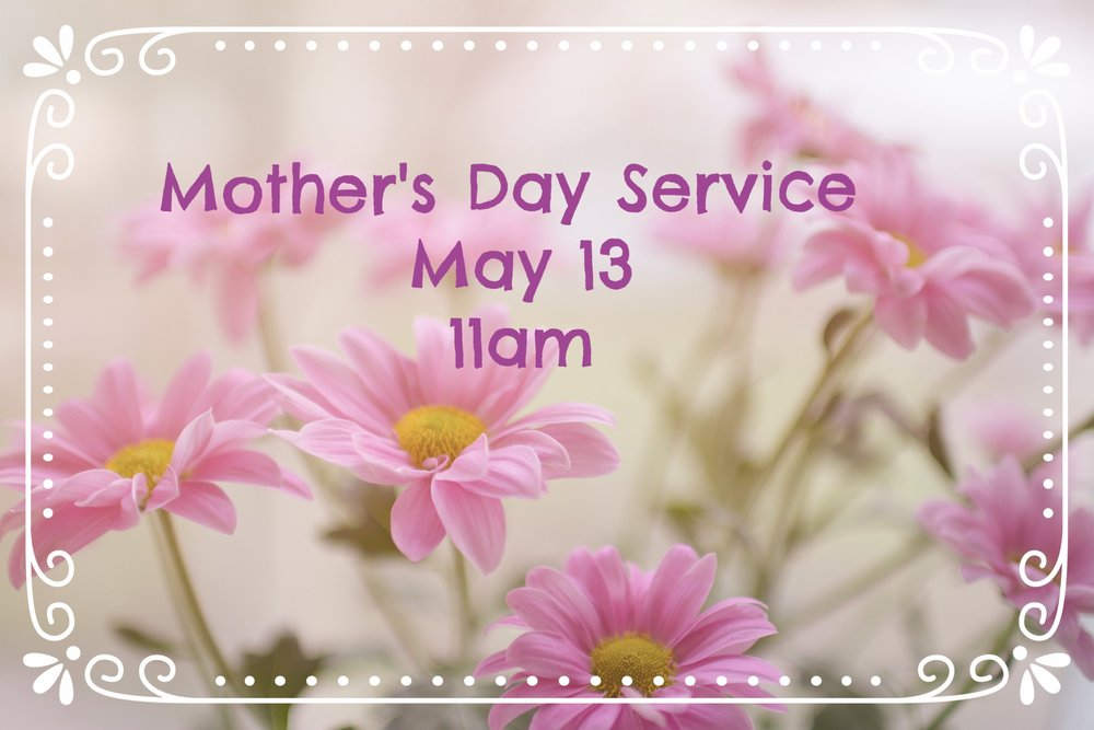 Join us for a special Mother's Day service as we honor all women who have given their time to pray, teach, nurture, encourage and love children. Please bring a dish and plan to stay for lunch and fellowship following the morning service.