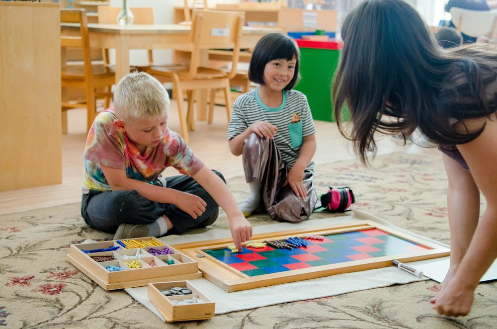 Math - The Montessori approach to mathematics is truly unique, which results in your child gaining practical experience with concrete math materials.Basic ArithmeticMultiples & FactorsGeometryMeasurement (Including time & money)Problem SolvingLike the language program, math is integrated throughout the curriculum.