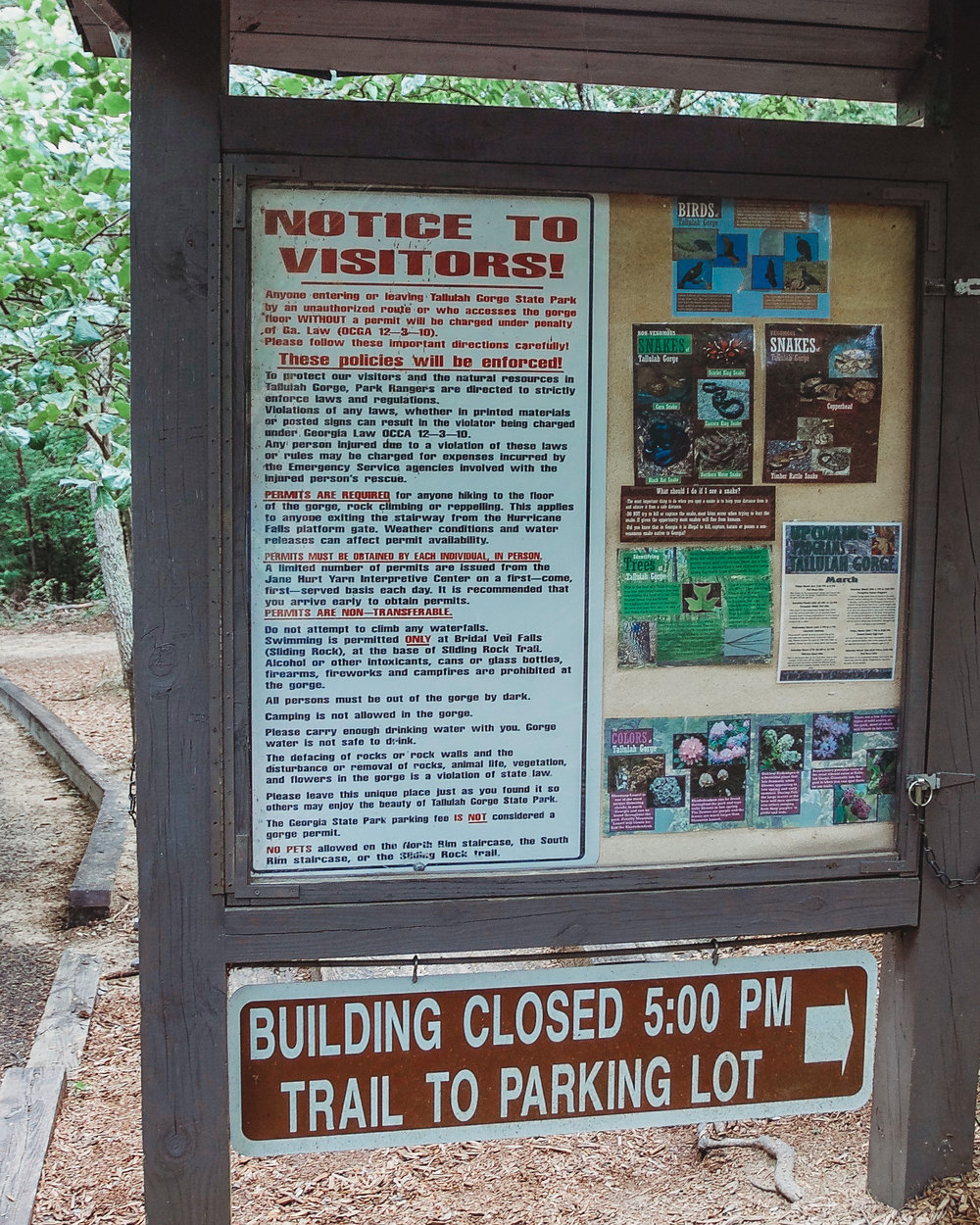 Park info... including which snakes to look out for!