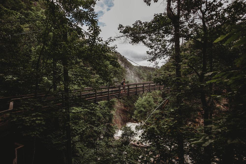 Suspension bridge- 80 ft. from the gorge floor