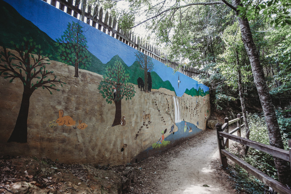 Mural along the trail