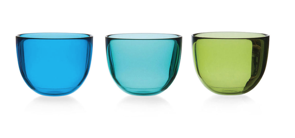 Colored Glass Bowls available at the MoMa Store