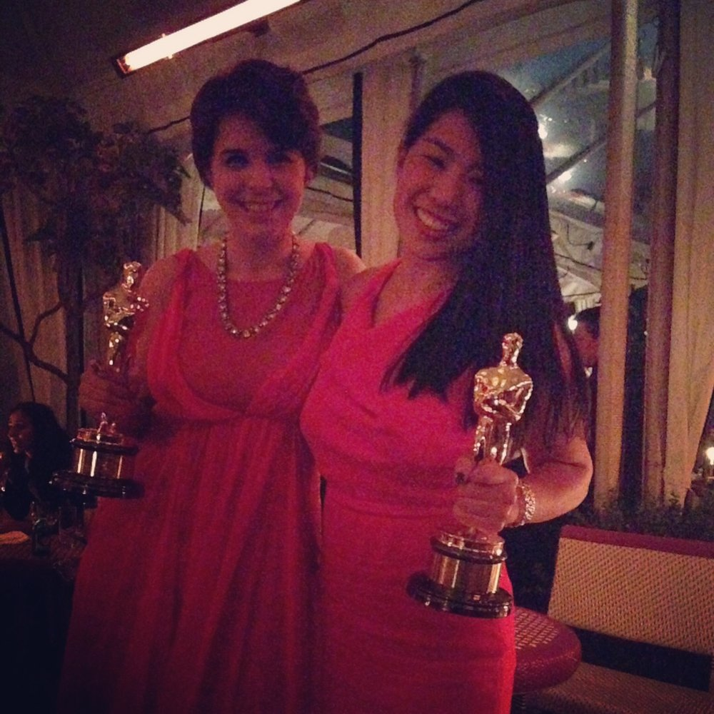2 - CM's assistant Rach and I at an Oscars 2014 afterparty.jpg