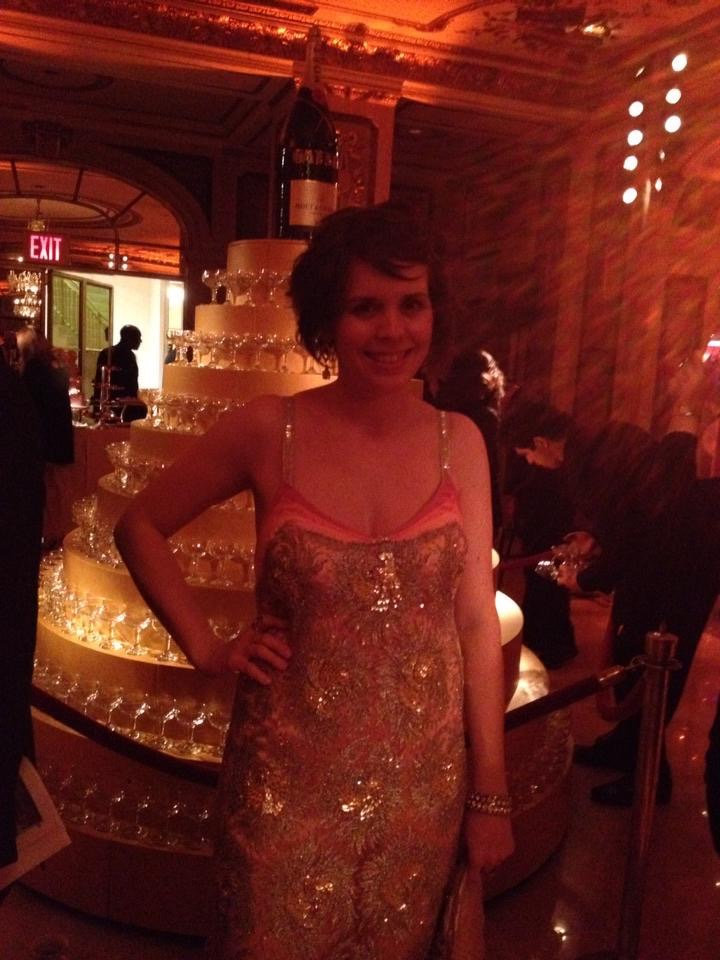 14 - Me at the Gatsby premiere party at the Plaza hotel NYC wearing the dress I made out of fabric from the film.jpg