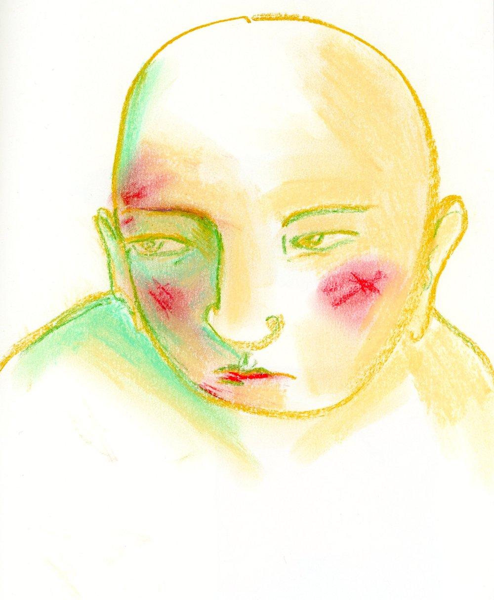 2016, pastel man