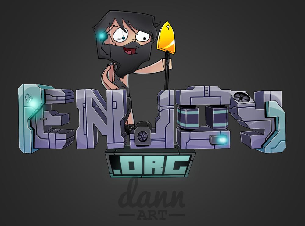 Dann Art's Science Fiction theme for Enjoy.org's logo.