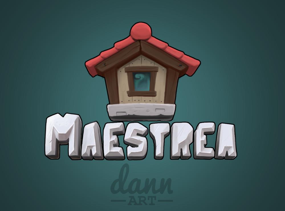 Dann Art fully painted Maestrea server logo and icon.