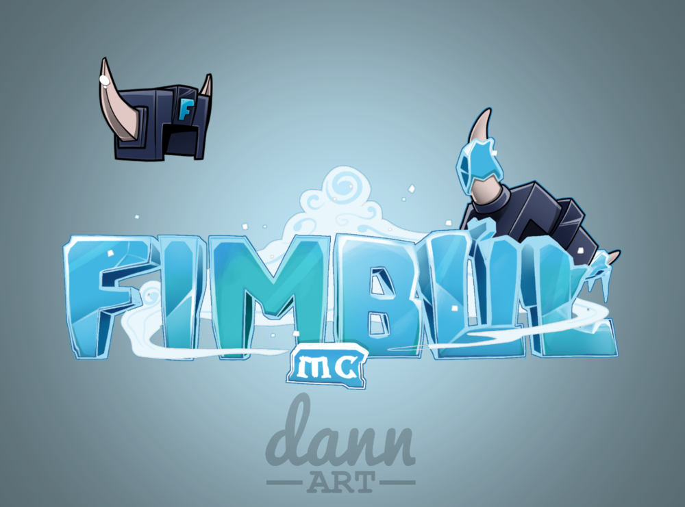 Example of ice shading and theme with FimbulMC's logo.